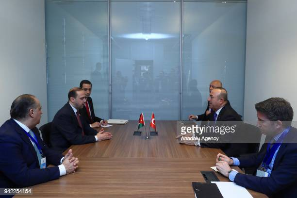 Minister of Foreign Affairs of Turkey Mevlut Cavusoglu meets with Minister of State for Media Affairs and Communications of Jordan and Government...