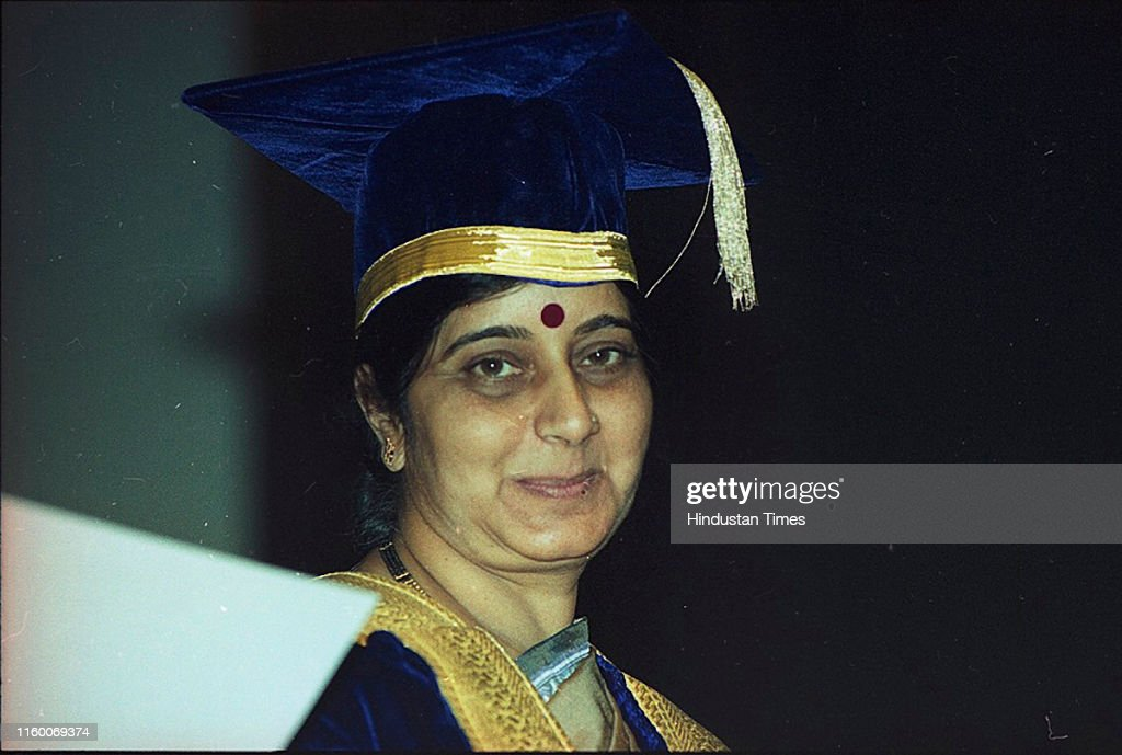 Archival Images Of Sushma Swaraj, Former Foreign Minister And BJP Stalwart Who Passes Away at 67 After Heart Attack : News Photo