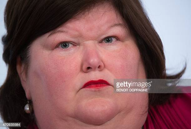 Minister of Health and Social Affairs Maggie De Block attends a Minister's council meeting of the federal government in Brussels on April 24 2015...