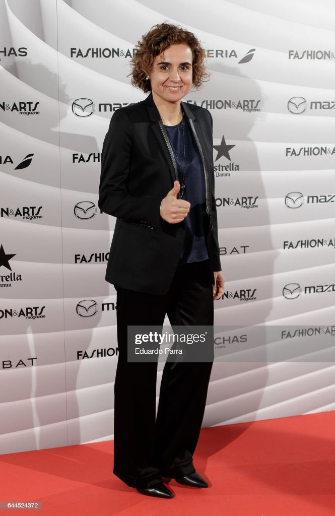 Minister of health Dolors Monserrat ttends the 'Fashion & arts' photocall at Reina Sofia museum on February 23, 2017 in Madrid, Spain.