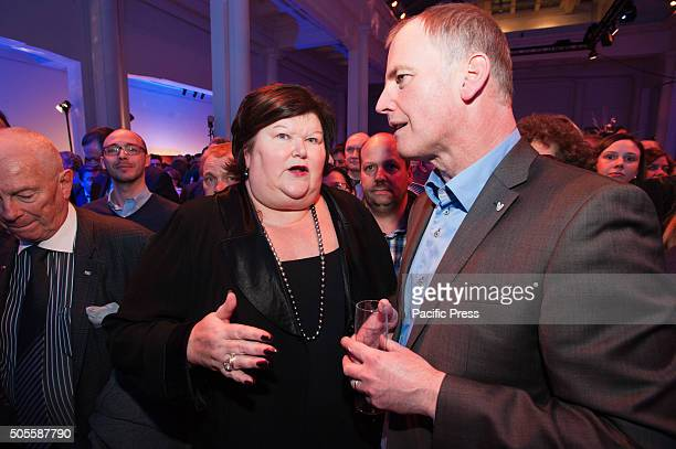 Minister of health Maggy De Block is seen at the annual new years reception of the Flemish Liberal party Open VLD in Brussels