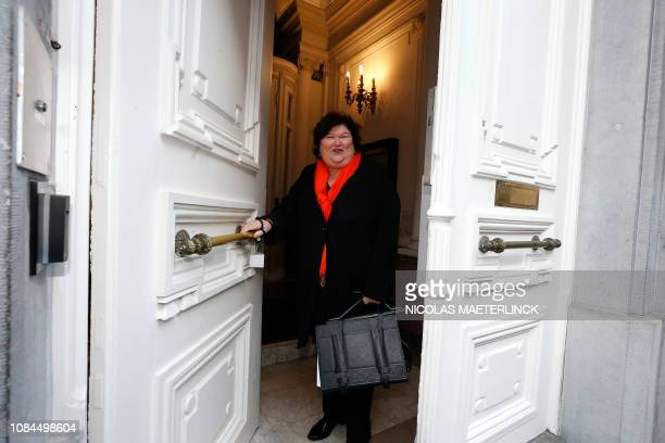 Minister of Health Social Affairs Asylum Policy and Migration Maggie De Block arrives for a Minister's council meeting of the Federal Government in...