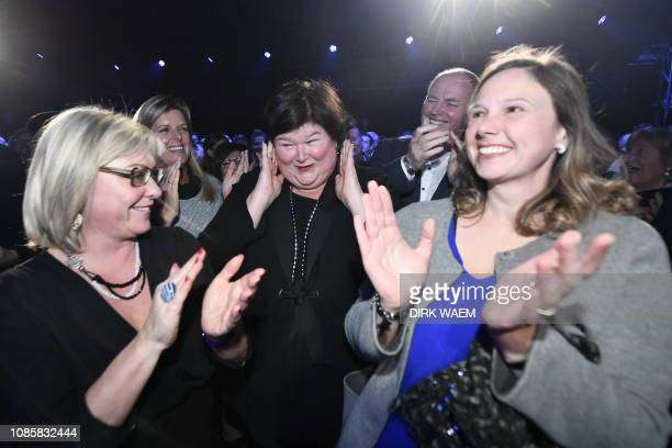 Minister of Health Social Affairs Asylum Policy and Migration Maggie De Block pictured during a new year's reception of Flemish liberal party Open...