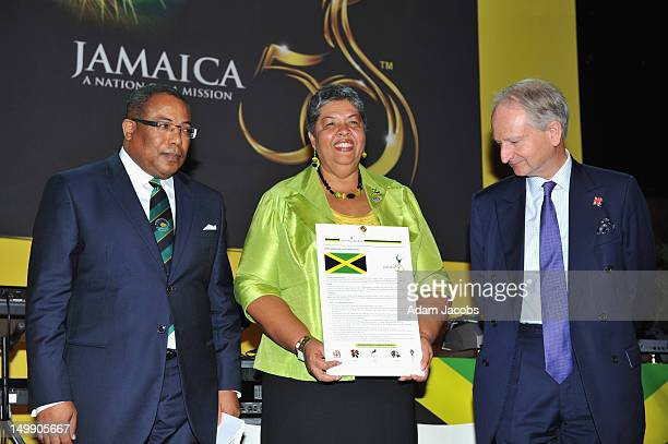 Minister of Industry Investment and Commerce Anthony Hylton Jamaica's High Commissioner Her Excellency Aloun Ndombet Assamba and UK Government...