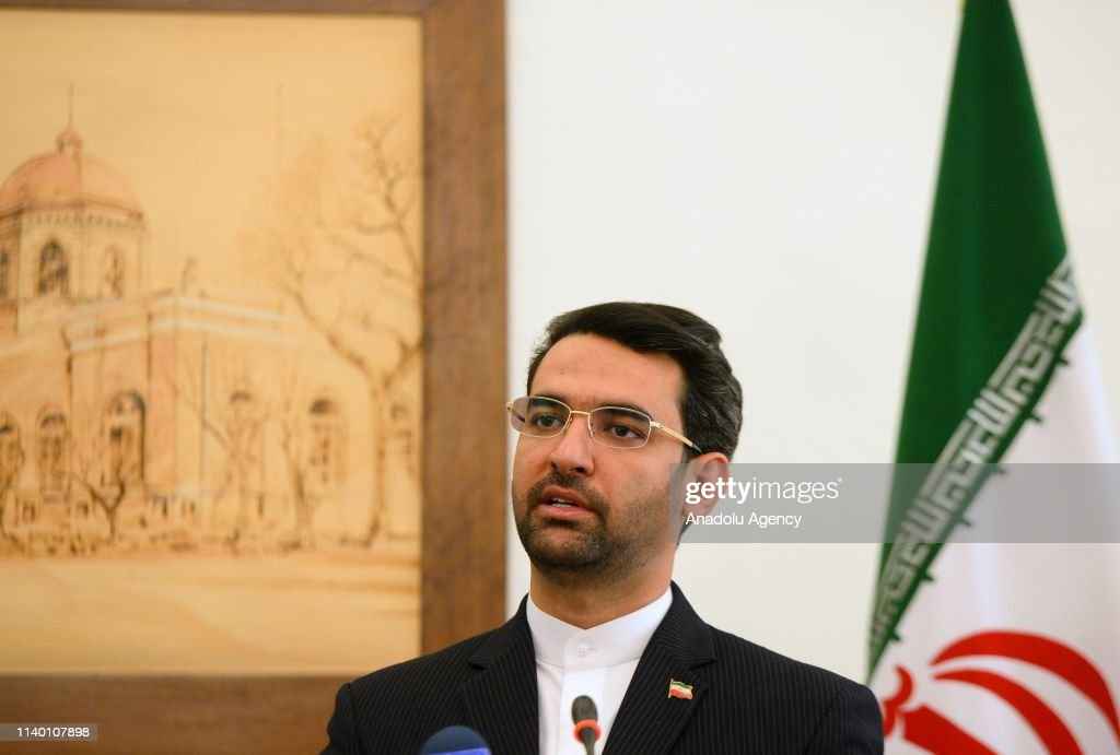 Turkish Transport and Infrastructure Minister Mehmet Cahit Turhan in Iran : News Photo