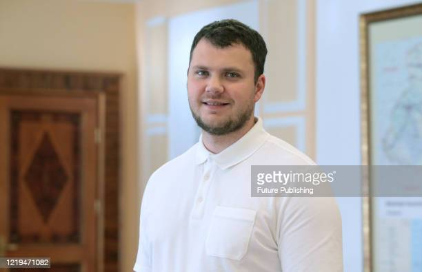 Minister of Infrastructure of Ukraine Vladyslav Kryklii gives an interview to the Ukrinform National News Agency, Kyiv, capital of Ukraine. -...
