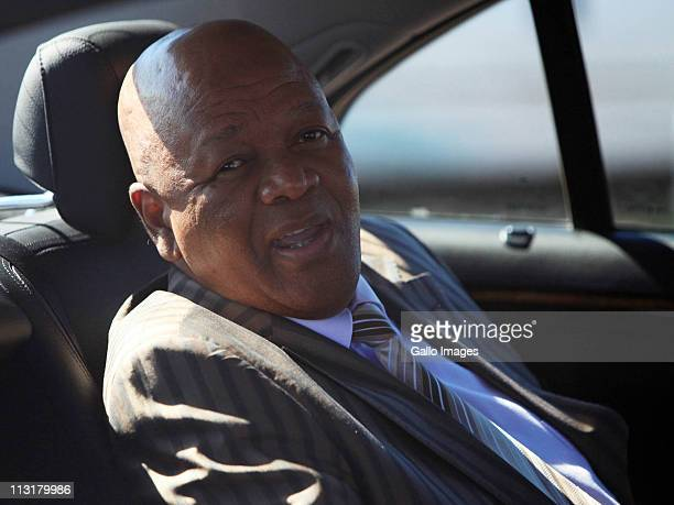 Minister of Justice and Constitutional Development Jeff Radebe arrives at the wedding ceremony of President Jacob Zuma's daughter Duduzile Zuma and...