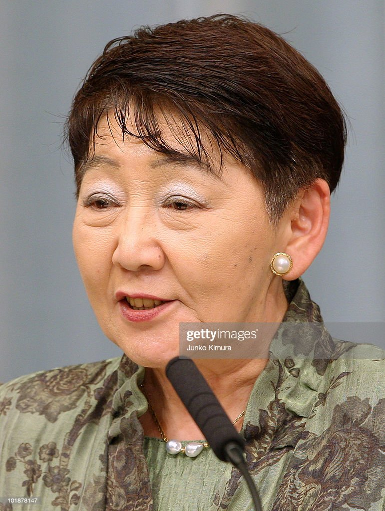 Minister of Justice Keiko Chiba speaks during a press conference at the Prime Minister's official residence on June 8, 2010 in Tokyo, Japan. Naoto Kan, elected by a general meeting of Democratic Party of Japan lawmakers, succeeds outgoing Yukio Hatoyama, who resigned less than nine months into the post.