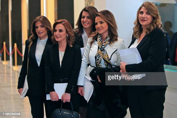 Minister of Labour Lamia Doueihy, Minister of Youth and Sport Vartine Ohanian, Minister Of Housing Ghada Shreim, Minister of Information Manal Abdel...