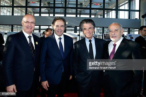 Minister of Moroccans Resident Abroad Anis Birou Politician Luc Chatel President of the 'Institut du Monde Arabe' Jack Lang and Writer Tahar Ben...