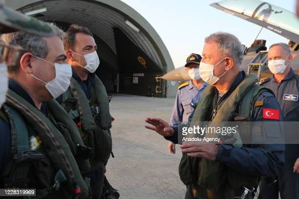 Minister of National Defence of Turkey, Hulusi Akar attends the opening of the new flight training year of Turkish Air Force by making a special...