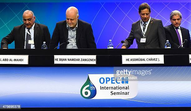 Minister of Oil of Iraq Adil Abd AlMahdi Minister of oil of Iran Namdar Zangeneh Venezuela's Minister for Petroleum and Mining Asdrubal Chavez J and...