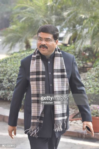 Minister of Petroleum and Natural Gas Minister of Skill Development and Entrepreneurship Dharmendra Pradhan arrives to attend Parliament Winter...