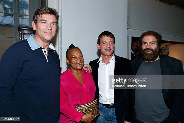 Minister of Productive Recovery Arnaud Montebourg Minister of Justice Christiane Taubira Minister of the Interior Manuel Valls and Marek Halter...