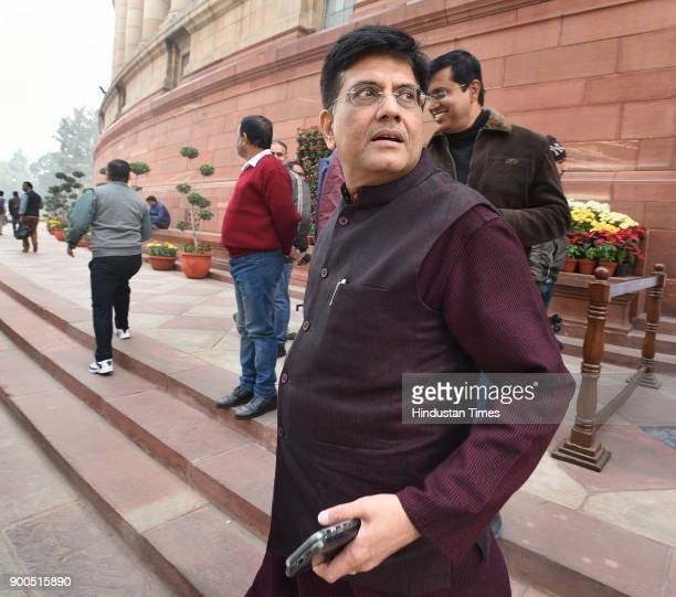 Minister of Railways and Coal Piyush Goel during the Parliament Winter Session on January 2 2018 in New Delhi India The government on Tuesday urged...