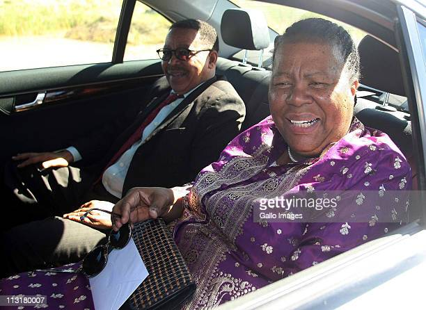 Minister of Science and Technology Naledi Pandor and her husband Sharif Pandor arrive at the wedding ceremony of President Jacob Zuma's daughter...