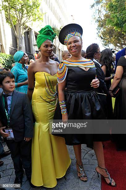 Minister of Small Business Development Lindiwe Zulu arrives for the State of the Nation Address on February 11, 2016 at Parliament in Cape Town,...