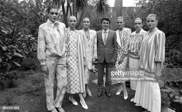 Minister of State at the Department of Industry and Commerce Richard Bruton pictured with models at the Irish Fashion Group Spring/Summer Collection...