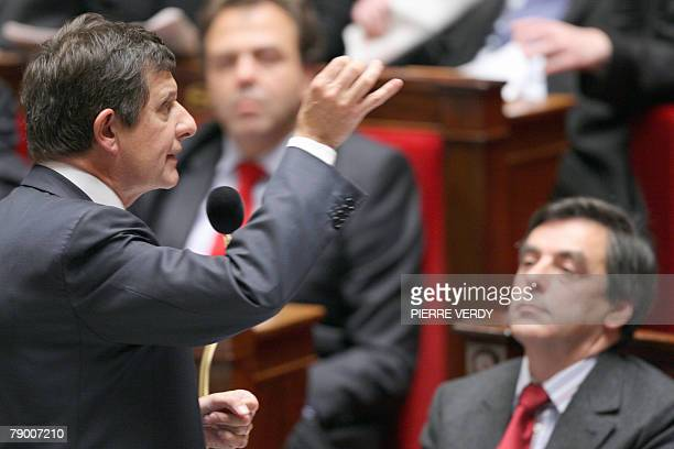 Minister of State attached to the Minister of Foreign and European Affairs responsible for European Affairs JeanPierre Jouyet speaks during the...