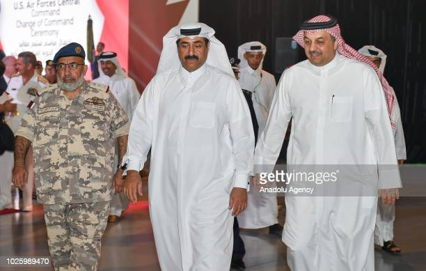 Minister of State for Defense of Qatar Khalid bin Mohammad Al Attiyah and Chief of Staff of the Qatari Armed Forces General Ghanem bin Shaheen Al...