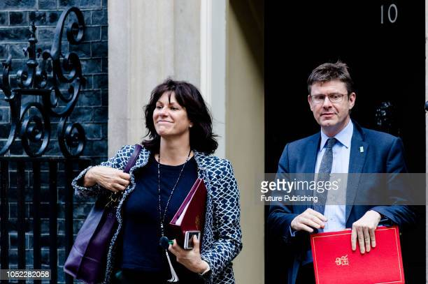 Minister of State for Energy and Clean Growth Claire Perry and Secretary of State for Business Energy and Industrial Strategy Greg Clark leave after...