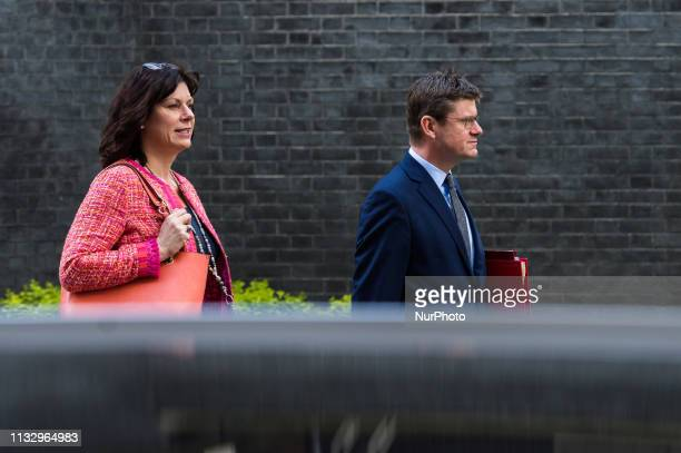 Minister of State for Energy and Clean Growth Claire Perry and Secretary of State for Business Energy and Industrial Strategy Greg Clark leave 10...