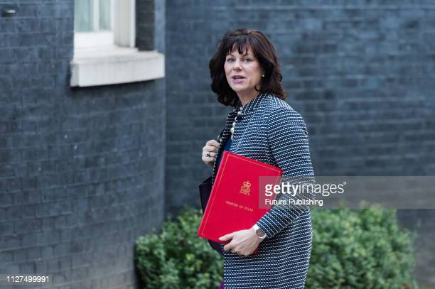 Minister of State for Energy and Clean Growth Claire Perry arrives for a weekly Cabinet meeting at 10 Downing Street in central London Prime Minister...