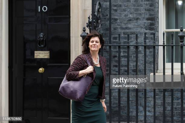 Minister of State for Energy and Clean Growth Claire Perry leaves 10 Downing Street in central London following a weekly Cabinet meeting March 05...