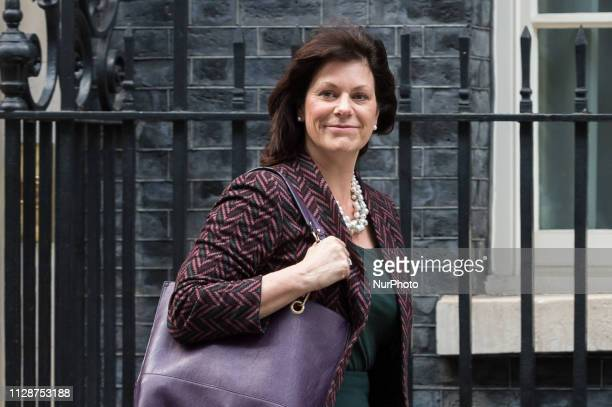 Minister of State for Energy and Clean Growth Claire Perry leaves 10 Downing Street in central London following a weekly Cabinet meeting on 05 March...