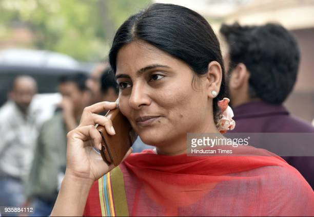 Minister of state for health and family welfare Anupriya Patel during the Budget Session of Parliament on March 21 2018 in New Delhi India