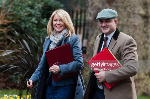 Minister of State for Housing Esther McVey and Minister of State Jake Berry arrive in Downing Street in central London to attend a Cabinet meeting on...