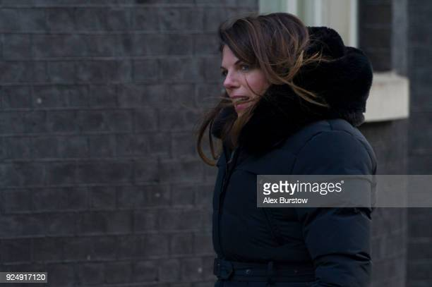 Minister of State for Immigration Caroline Nokes arrives on Downing Street for the weekly cabinet meeting on February 27 2018 in London England