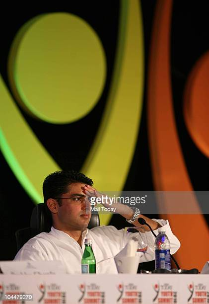 Minister of state for IT and communications Sachin Pilot at the India Today Youth Summit 2010 in New Delhi on September 25 2010