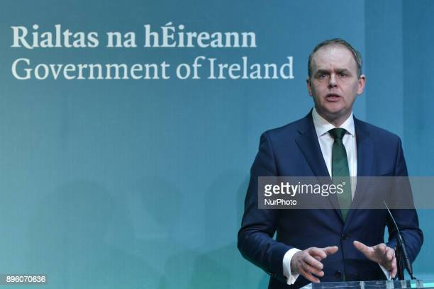 Minister of State for the Irish Language the Gaeltacht and the Islands Joe McHugh launch Bliain na Gaeilge 2018 in the Government Press Centre On...