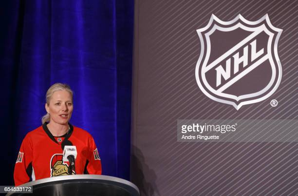 Minister of the Environment and Climate Change and Minister responsible for Parks Canada The Honourable Catherine McKenna speaks during the 2017...