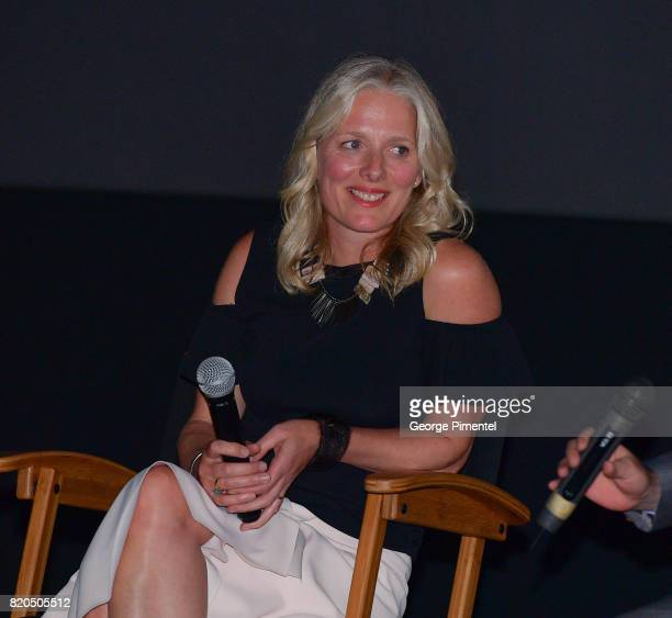 Minister of the Environment and Climate Change Catherine McKenna speaks on stage for the QA at a special Toronto screening of 'An Inconvenient Sequel...