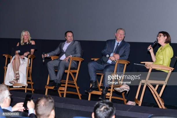 Minister of the Environment and Climate Change Catherine McKenna Producer Jeff Skoll Former Vice President Al Gore and Moderator Johanna Schneller...