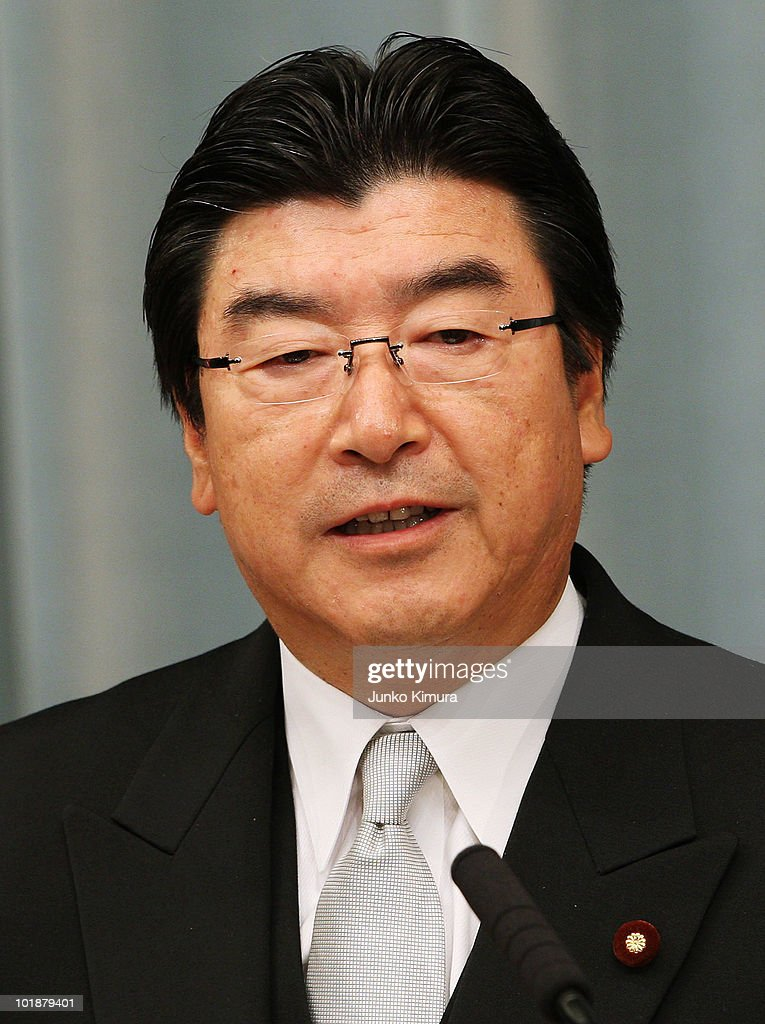 Minister of the Environment Sakihito Ozawa speaks during a press conference at the Prime Minister's official residence on June 8, 2010 in Tokyo, Japan. Naoto Kan, elected by a general meeting of Democratic Party of Japan lawmakers, succeeds outgoing Yukio Hatoyama, who resigned less than nine months into the post.