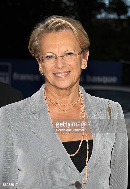 Minister of the Interior Michelle AlliotMarie attends the Young Directors International Films Festival of Saint Jean de luz on October 11 2008 Saint...