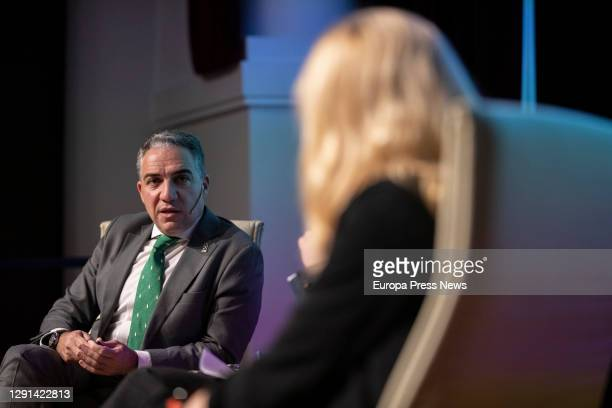 Minister of the Presidency, Public Administration and the Interior and Spokesperson of the Andalusian Government, Elías Bendodo during the...
