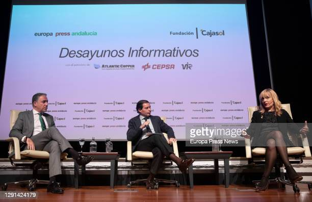 Minister of the Presidency, Public Administration and the Interior and Spokesperson of the Andalusian Government, Elías Bendodo, the delegate of...