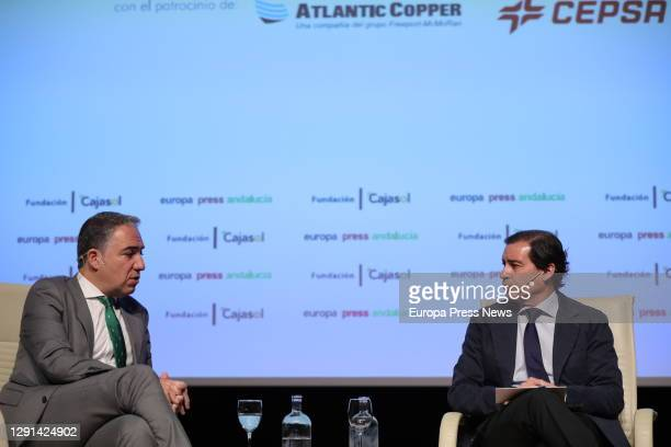 Minister of the Presidency, Public Administration and the Interior and Spokesperson of the Andalusian Government, Elías Bendodo , and the delegate of...