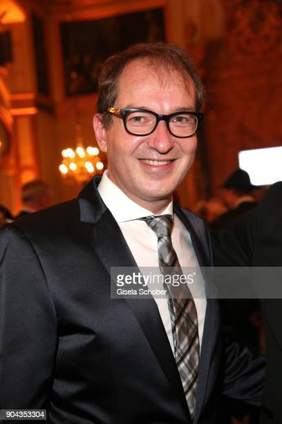 Minister of transport Alexander Dobrindt during the new year reception of the Bavarian state government at Residenz on January 12 2018 in Munich...