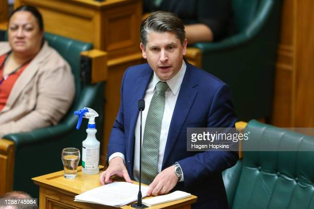 Minister of Transport, Minister for Workplace Relations and Safety and Deputy Leader of the House, Michael Wood, speaks during the first sitting day...