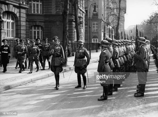 Minister of war Werner von Blomberg in front of the Ministry of war Berlin March 13th 1937 Photograph Reichskriegsminister Werner von Blomberg vor...