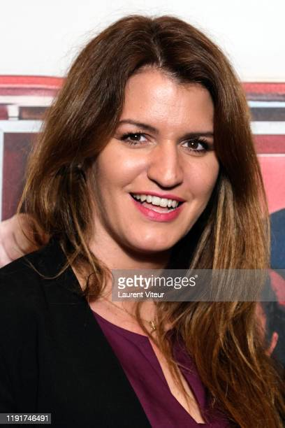"""Minister of Woman Egality Marlene Schiappa attends the """"Une Belle Equipe"""" premiere at Cinema Elysees Biarritz on December 03, 2019 in Paris, France."""