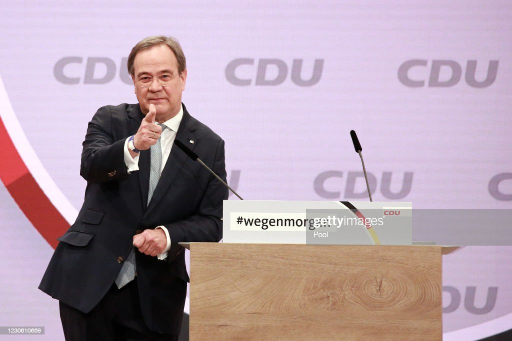CDU Holds Digital Party Congress To Elect New Leader : ニュース写真