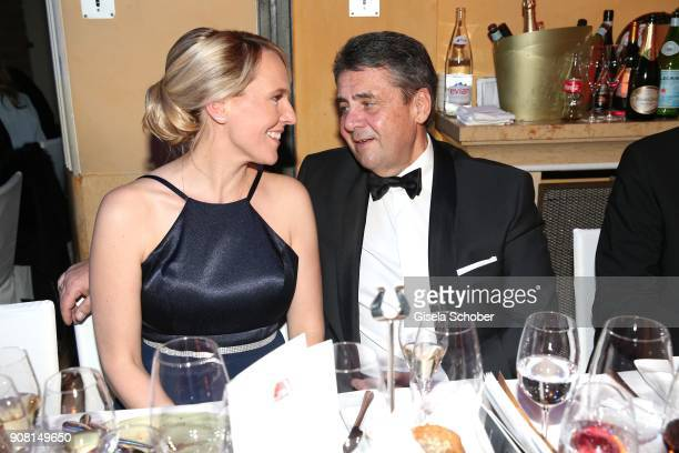 Minister Sigmar Gabriel and his wife Anke Stadler during the German Film Ball 2018 party at Hotel Bayerischer Hof on January 20 2018 in Munich Germany