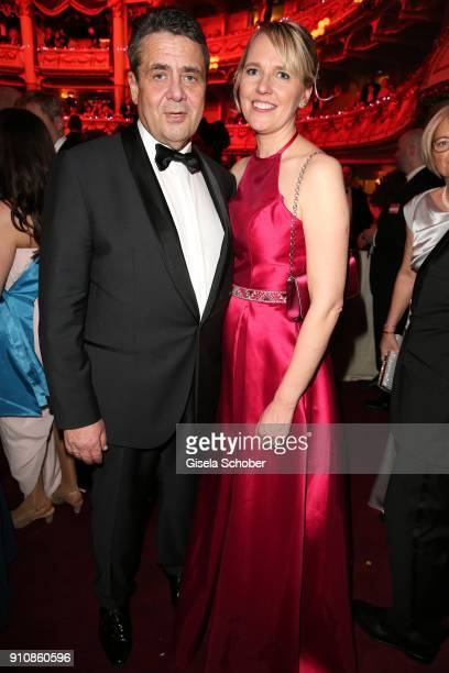 Minister Sigmar Gabriel and his wife Anke Stadler during the Semper Opera Ball 2018 at Semperoper on January 26 2018 in Dresden Germany