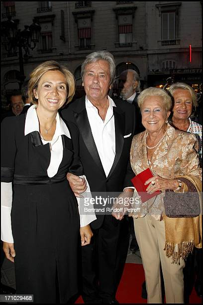 Minister Valerie Pecresse Alain Delon Madame Serge Dassault at 6th Charity Gala Of Ifrad Against Alzheimer 's Disease At Opera Comique In Paris